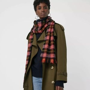 BURBERRY Check Merino Wool Multicolor Check Scarf